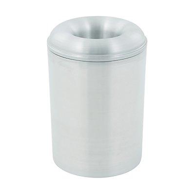 Abfallsammler PREMIUM, selbstlöschend - aus Aluminium - Volumen 13 l, Höhe 341 mm