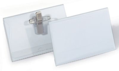Durable Namensschilder mit Kombiklemme - HxB 54 x 90 mm - VE 100 Stk