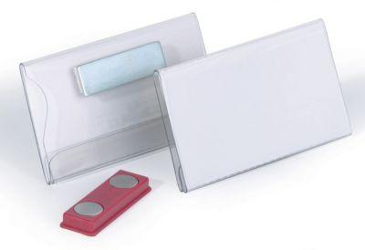 Durable Namensschild mit Magnet aus Hartfolie - HxB 40 x 75 mm - VE 25 Stk