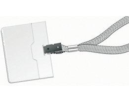 Durable Namensschild mit Textilband - mit Klemme, HxB 60 x 90 mm