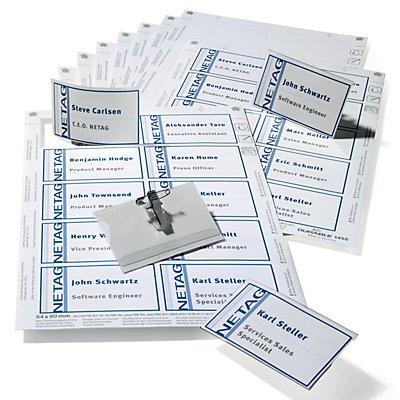 Durable Namensschilderset - Schilder mit Kombiklemme - VE 5 Sets