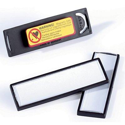 Durable CLIP CARD mit Magnet - HxB 17 x 67 mm - schwarz, VE 25 Stk