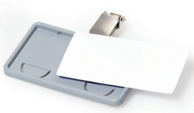 Durable CLIP CARD mit Clip - VE 25 Stk - HxB 40 x 75 mm, grau