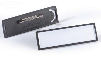 Durable CLIP CARD mit Plattennadel - VE 50 Stk - HxB 17 x 67 mm, schwarz