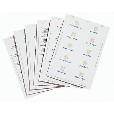Durable BADGEMAKER Einsteckschilderbögen - für HxB 30 x 60 mm, VE 2700 Stk - weiß