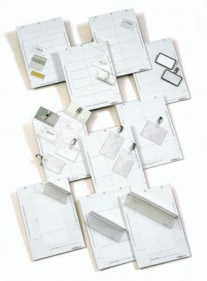 Durable BADGEMAKER Einsteckschilderbögen - für HxB 60 x 90 mm, VE 800 Stk - weiß