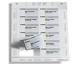 Durable BADGEMAKER Einsteckschilderbögen - für HxB 40 x 75 mm, VE 1200 Stk - weiß