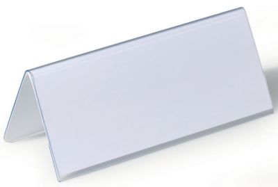 Durable Tischnamensschild aus Hartfolie - Dachform, HxB 61/122 x 150 mm - VE 50 Stk