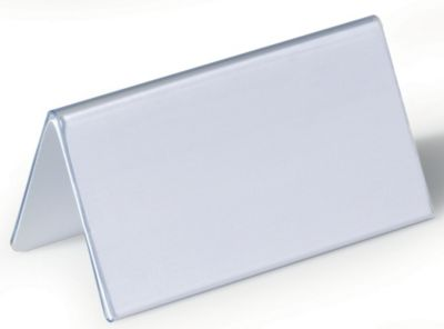 Durable Tischnamensschild aus Hartfolie - Dachform, HxB 52/104 x 100 mm - VE 75 Stk
