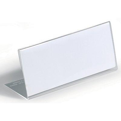 Durable Badge de table acrylique - en forme de L, h x l 61 x 150 mm - lot de 30