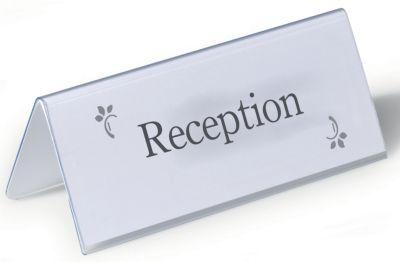 Durable Tischnamensschilder aus recyceltem PET - HxB 61/122 x 150 mm - VE 50 Stk