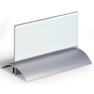 Durable Badge de table acrylique à pied en aluminium - h x l 61 x 150 mm - lot de 12