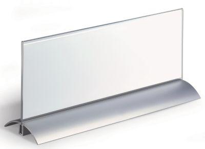 Durable Tischnamensschild, Acryl mit Aluminiumfuß - HxB 105 x 297 mm - VE 4 Stk