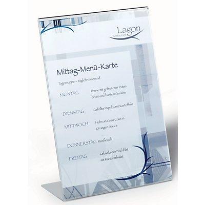 Durable Präsentationsständer aus Acryl - DIN A4, HxBxT 290 x 210 x 90 mm - VE 10 Stk