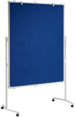 MAUL® Moderationswand - Textilbezug / Whiteboard, Tafelgröße 1500 x 1200 mm - BxH 1200 x 1500 mm