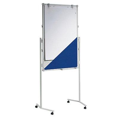 MAUL® Moderationswand - Textilbezug / Whiteboard, Tafelgröße 1200 x 750 mm - BxH 750 x 1200 mm