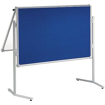 MAUL® Moderationstafel, klappbar - Textilbezug / Whiteboard - BxH 1200 x 1500 mm