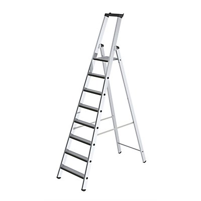 Stufen-Stehleiter, einseitig - Ausführung gepolstert