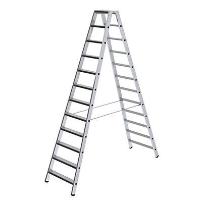 Günzburger Steigtechnik Stufen-Stehleiter, beidseitig - Ausführung gepolstert