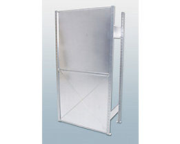 Rückwand, verzinkt - für Höhe 2000 mm - für Breite 1300 mm