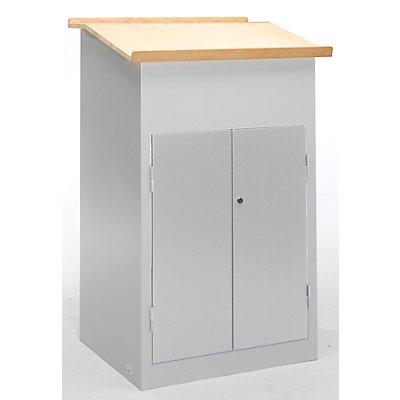 pupitre industriel avec armoire porte battante. Black Bedroom Furniture Sets. Home Design Ideas