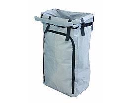 Sac-poubelle durable pour chariot d'entretien hygiénique - capacité 120 l - gris