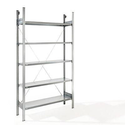 EUROKRAFT Fachboden-Steckregal - Regalhöhe 2350 mm, Fachbodenbreite 1215 mm