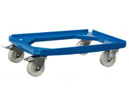 Plateau roulant pour conteneurs de dimensions max. 600 x 400 mm - force 250 kg