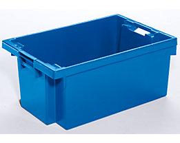 Drehstapelbehälter aus HDPE - Inhalt 40 l - Wände und Boden durchbrochen, naturweiß