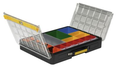 Kleinteile-Sortimentskoffer, VE 2 Stk - LxBxH 437 x 345 x 78 mm