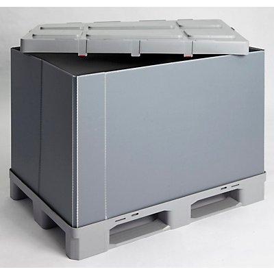 Palettenbox, faltbar, aus PP, Inhalt 675 l ab 1 Stk