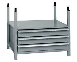 Rayonnage modulaire à tiroirs - avec 3 tiroirs