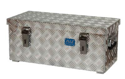 Alu-Transportkiste Riffelblech - 37 l Inhalt - LxBxH 622 x 275 x 270 mm