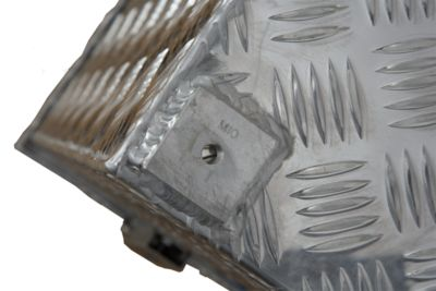Alu-Transportkiste Riffelblech - 70 l Inhalt - LxBxH 522 x 375 x 420 mm