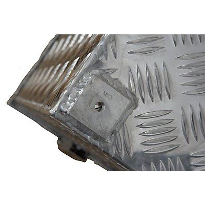 ALUTEC Alu-Transportkiste Riffelblech - 37 l Inhalt - LxBxH 622 x 275 x 270 mm
