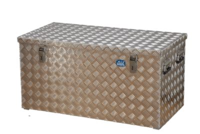 Alu-Transportkiste Riffelblech - 250 l Inhalt - LxBxH 1022 x 525 x 520 mm