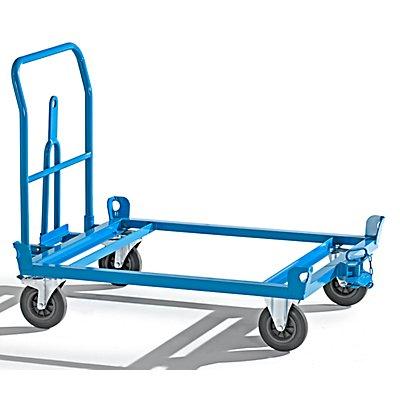 EUROKRAFT Fahrgestell mit Zugdeichsel und Kupplung - Tragfähigkeit 500 kg - Ladeflächenbreite 1010 mm