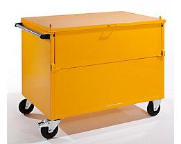 QUIPO Chariot-caisse en tôle avec couvercle - force 350 kg