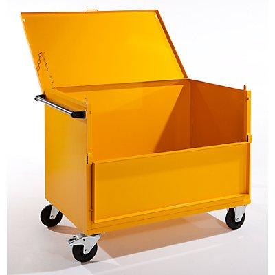 QUIPO Blechkastenwagen mit Deckel - Tragfähigkeit 350 kg - LxBxH 1345 x 850 x 1055 mm