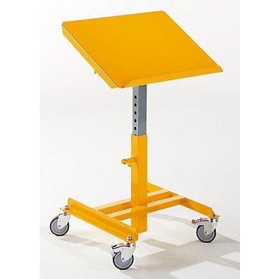 QUIPO Materialständer, kippbar - Plattform-LxB 406 x 506 mm