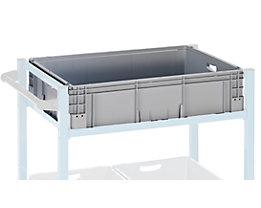 Industriebehälter aus Polypropylen - Stapellast 400 kg - LxBxH 800 x 600 x 220 mm, VE 1 Stk