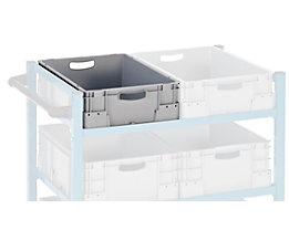Industriebehälter aus Polypropylen - Stapellast 400 kg - LxBxH 600 x 400 x 180 mm, VE 5 Stk