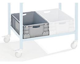 Industriebehälter aus Polypropylen - Stapellast 400 kg - LxBxH 600 x 400 x 220 mm, VE 4 Stk