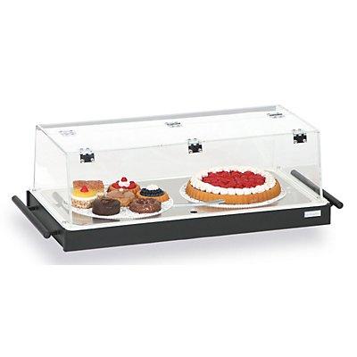 Kühltablett - mit Plexiglashaube und 3 Kühlakkus - Rahmen schwarz