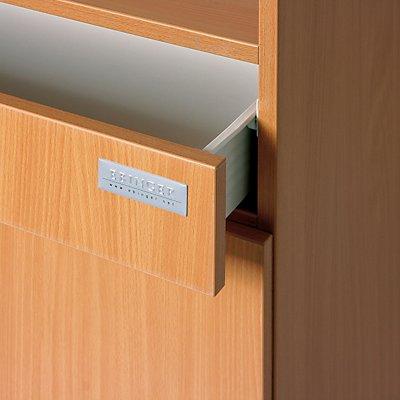 Servicestation - 1 Schublade, 2 Flügeltüren, 1 Fachboden - Holzdekor Buche