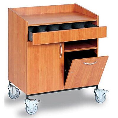 Service- und Kellnerstation - Besteckschublade, Abfallbehälter, 1 Fachboden
