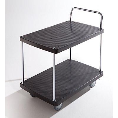 Servier-Tischwagen - 2 Etagen, 1 Schiebebügel