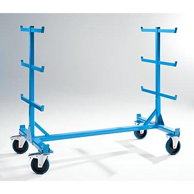 EUROKRAFT Tragarmwagen - zweiseitig, Tragfähigkeit 700 kg