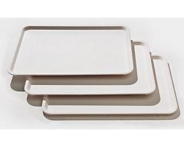 Kongamek Tablett für Servierwagen - VE 3 Stk - weiß