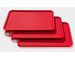 Kongamek Tablett für Servierwagen - VE 3 Stk - rot